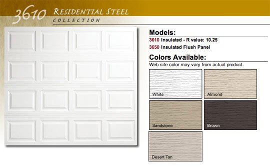 Doorlink Model 3610 Residential Steel Garage Doors Saint