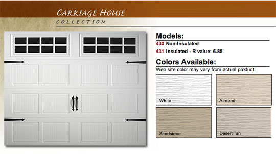 Doorlink Model 430 Residential Steel Garage Doors Saint